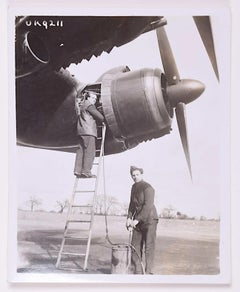 RCAF Thunderbird Sqn Avro Lancaster II Bomber censored 1944 photograph stamps