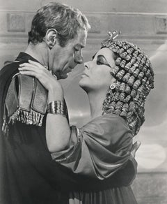 "Rex Harrison and Elizabeth Taylor Iconic Scene from ""Cleopatra"" Fine Art Print"