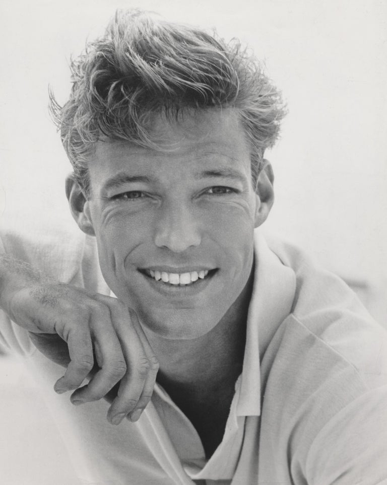 Unknown Black and White Photograph - Richard Chamberlain Smiling Outdoors Fine Art Print