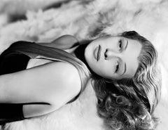 Rita Hayworth Beautiful Glamour in the Studio Globe Photos Fine Art Print