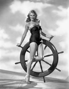 Rita Hayworth Pinup at the Helm Fine Art Print