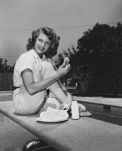 Rita Hayworth: Sandwich Break Fine Art Print