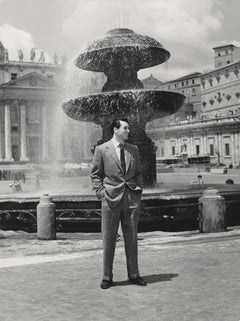 Rock Hudson at St. Peter's Basilica Fine Art Print