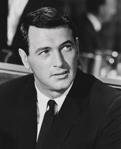 Rock Hudson Looking Up Globe Photos Fine Art Print
