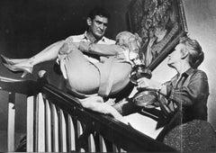 Rod Taylor and Tippi Hedren - Vintage b/w Photograph - 1963