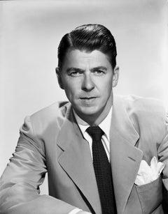Ronald Reagan Posed Smiling Movie Star News Fine Art Print