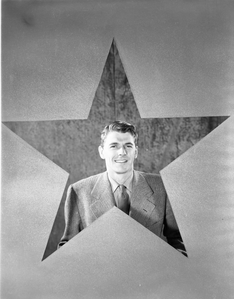 Unknown Black and White Photograph - Ronald Reagan: The Star Fine Art Print