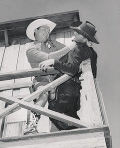 Roy Rogers in Fighting Scene Fine Art Print