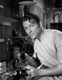 Roy Rogers Posed with Microscope Movie Star News Fine Art Print