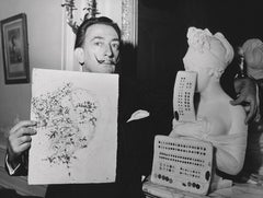 Salvador Dali: Surrealist with Artwork Fine Art Print