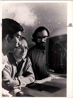 Scientists in 1960s - Vintage B/W photo