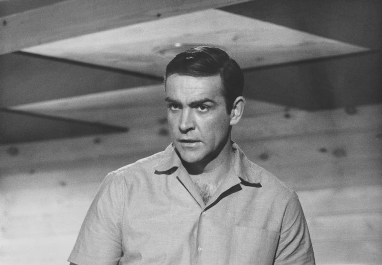 Unknown Black and White Photograph - Sean Connery: 007 Fine Art Print