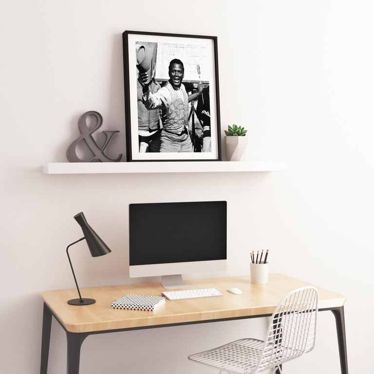 Sidney Poitier with Cowboy Hat and Arrow Fine Art Print For Sale 2