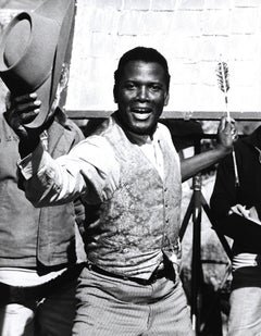 Sidney Poitier with Cowboy Hat and Arrow Fine Art Print