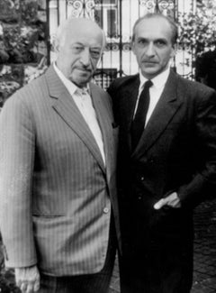 Simon Wiesenthal and Ben Kingsley - Vintage Photo - 1980s