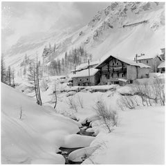 Ski Chalet (1950) Silver Gelatin Fibre Print - Oversized
