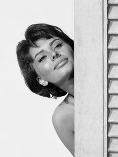 Sophia Loren Behind Corner Globe Photos Fine Art Print