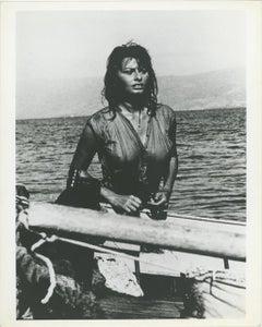 "Sophia Loren ""Boy on a Dolphin"" 1957 Press Print"