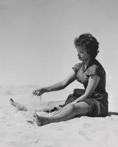 Sophia Loren in the Sand Fine Art Print