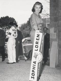 Sophia Loren with Sign Fine Art Print