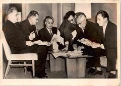 Soviet Scientists in 1960s - Vintage B/W photo