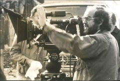 Stanley Kubrick Directing - Original Vintage Photograph - Early 1980s