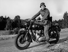 "Steve McQueen on Bike ""The Great Escape"" Globe Photos Fine Art Print"