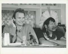 Sting with Brazil's Amazon Chief Raoni Metuktire