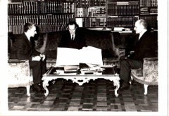 Tehran, a Meeting of the Shah - Vintage b/w Photo - Early 1970s