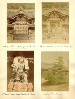 Temples in Japan - Ancient Albumen Print 1870/1890