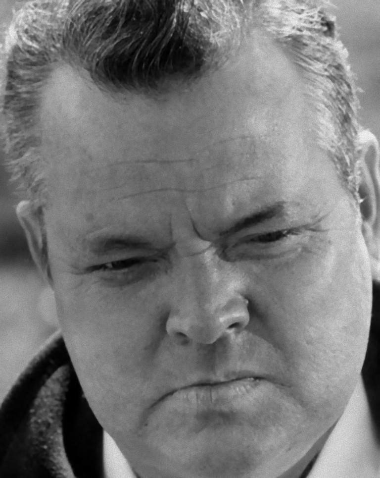 Unknown Portrait Photograph - The American Actor and Director Orson Wells - Vintage Photograph - 1970s