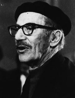 The American Actor Groucho Marx - Vintage b/w Photograph - 1976