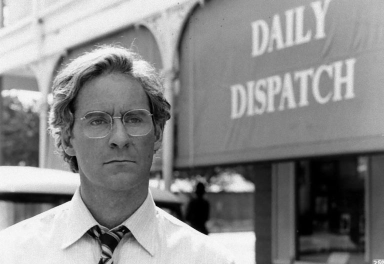 """Unknown Black and White Photograph - The American Actor Kevin Kline in """"Cry Freedom"""" - Vintage Photograph - 1987"""