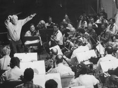 The American Composer Leonard Bernstein - Vintage b/w Photograph - Early 1980s