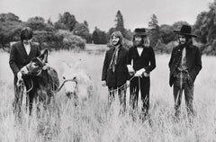 The Beatles Candid with Donkeys Fine Art Print