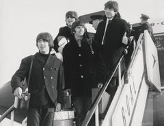 The Beatles Departing from Plane Fine Art Print