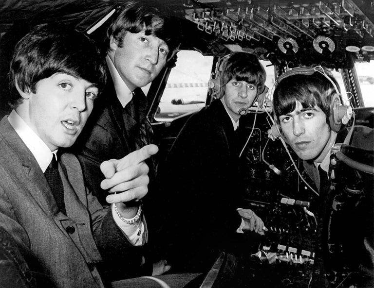 Unknown - The Beatles in a Cockpit Fine Art Print, Photograph: For ...