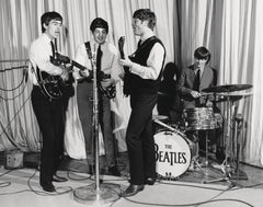 The Beatles Performing in the Early Years Globe Photos Fine Art Print