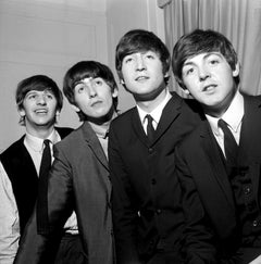 The Beatles: Young and Smiling Globe Photos Fine Art Print