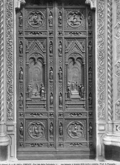 The Door of The Cathedral of Florence - Vintage BPhotograph - Early 20th Century