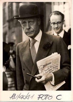 The Duke of Windsor in London - Vintage B/W photo - 1940s