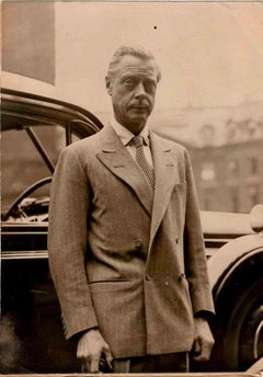The Duke of Windsor in Paris - Vintage B/W photo - 1950s