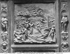 The Florence Baptistery - Vintage Photo Detail  - Early 1900