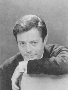 The Italian Actor Marcello Mastroianni - Vintage b/w Photograph - 1960s