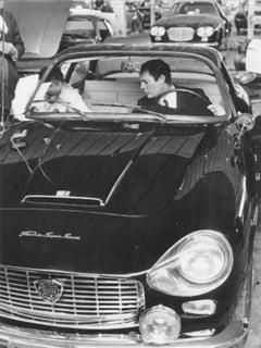 The Italian Actor Marcello Mastroianni - Vintage b/w Photograph - 1965