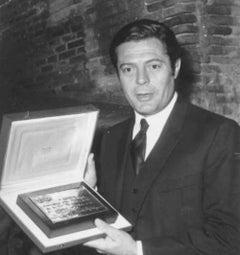 The Italian Actor Marcello Mastroianni - Vintage Photo 1980s