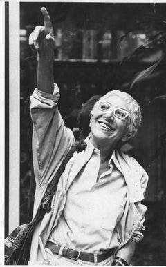 The Italian Film Director Lina Wertmüller - Vintage Photograph - 1983 ca.