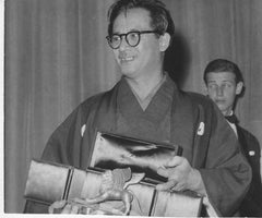 The Japanese Director Hiroshi Inagaki - Original Vintage Photograph - 1957