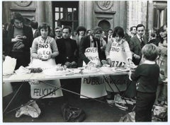 The Radical Protest - Historical Photograph About Women Rights - 1980