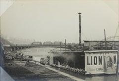 The Rhone River in Lyon, France 1927 - Silver Gelatin Black & White Photograph